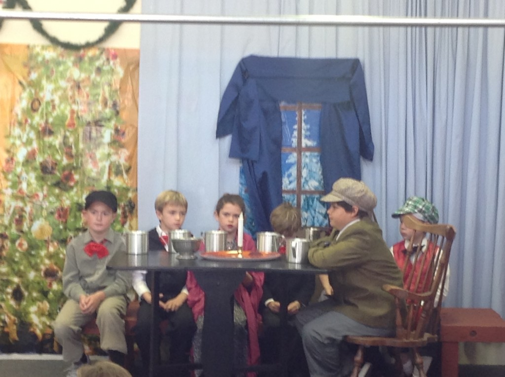 Sam Waterman in our School Play Last Year. He is wearing the hat.