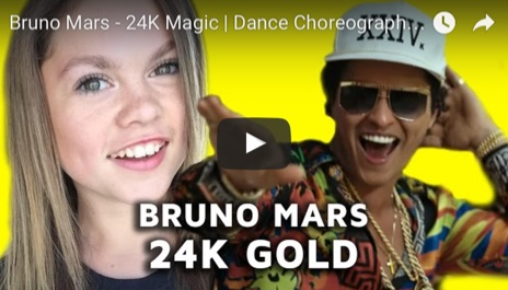 Bruno Mars and Sparkles Lund 24K Magic